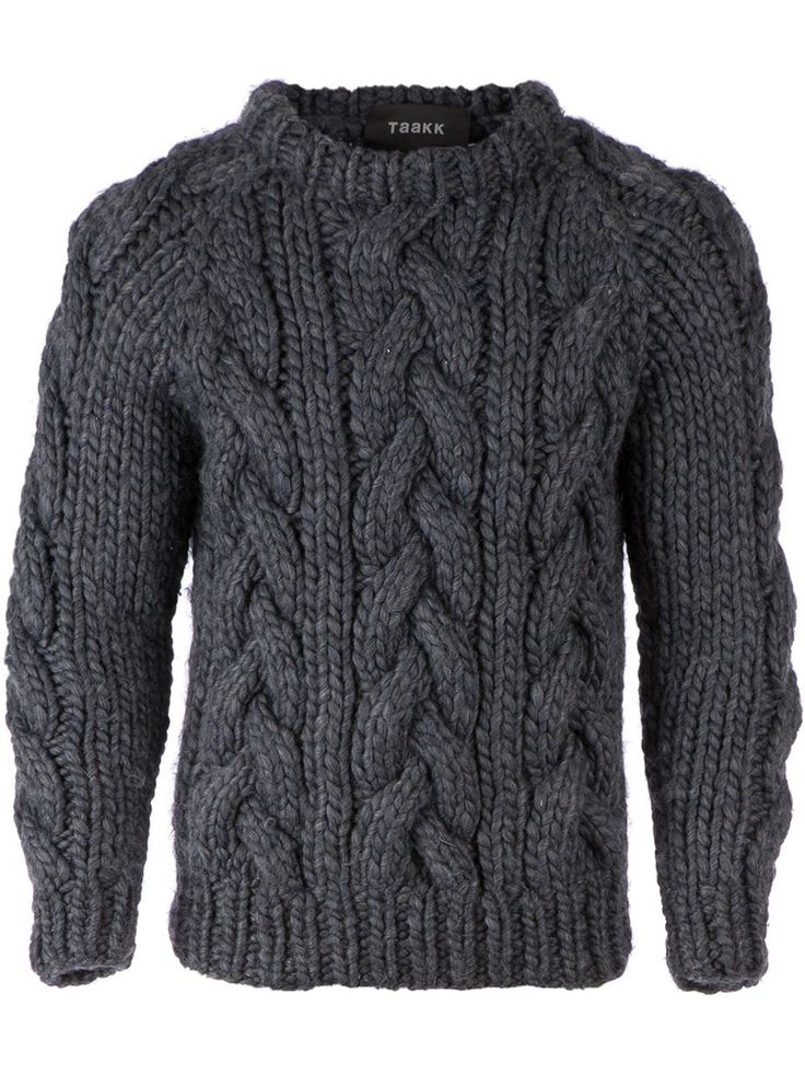 knits to cool weather! taakk - chunky cable knit sweater http://www ECOUVJA
