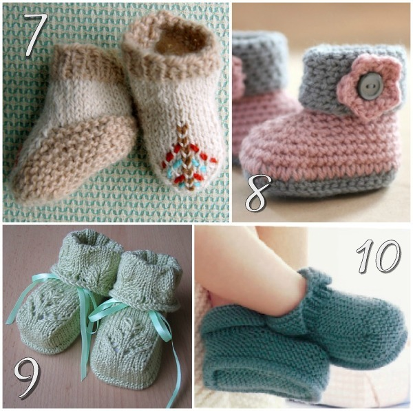 knitted baby booties soft and sweet baby booties - free knitting patterns SAJZYKF
