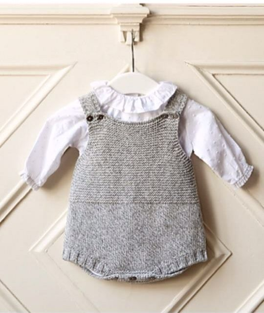 knitted baby clothes grey knitted romper suit | portuguese baby clothes | wedoble autumn winter  2015 | NZMWDIR