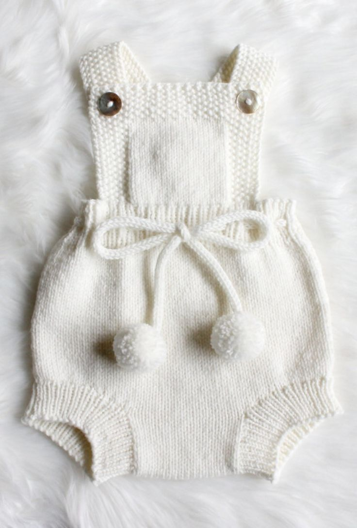 knitted baby clothes hand knitted baby romper   etsy JKUXPHI