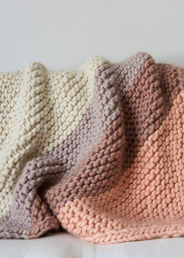 knitted blanket colorful corner blanket | purl soho alternate yarn: super tuff puff at knit  picks IUQANPJ