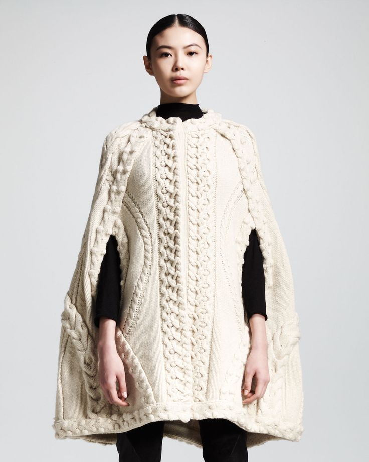 Ideas on how to wear your knitted cape