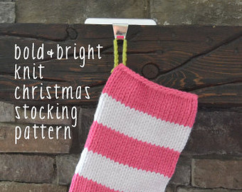 knitted christmas stockings boldu0026bright knit christmas stocking pattern: easy ADUNCLB