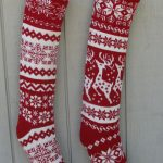 The little joys of the festive season in knitted christmas stockings