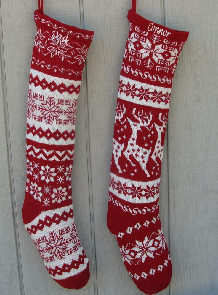 The little joys of the festive season in knitted christmas stockings
