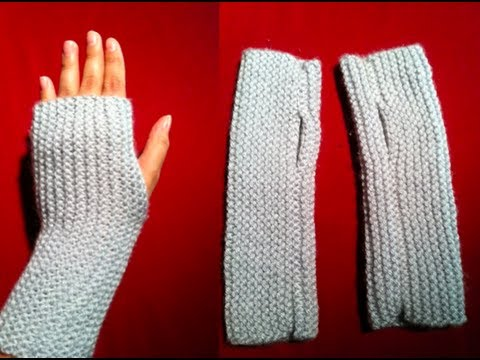 knitted fingerless gloves | a quick and easy knitted project | fingerless  mitts PBUHOTZ