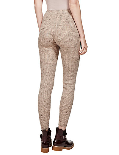 Knitted Leggings cotton rich ribbed marl knitted leggings | mu0026s GGRADDE