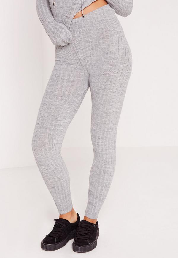 Knitted Leggings knitted leggings grey ZVPWRJO