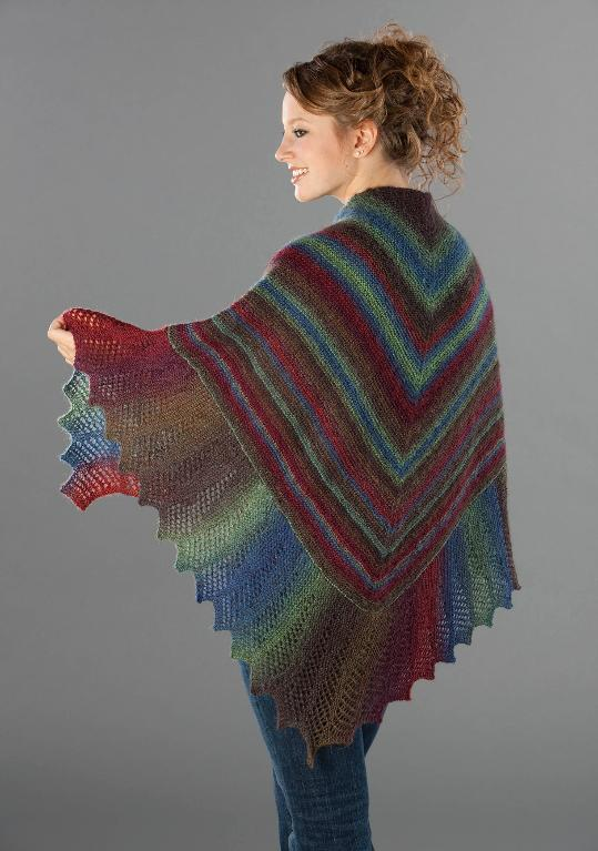 knitted shawl lace edge garter stitch shawl free knitting pattern ZPPHVQV