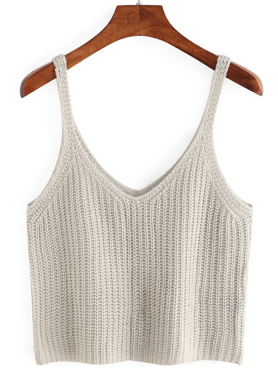 knitted tank top knitted crop tank top YWPBSBL