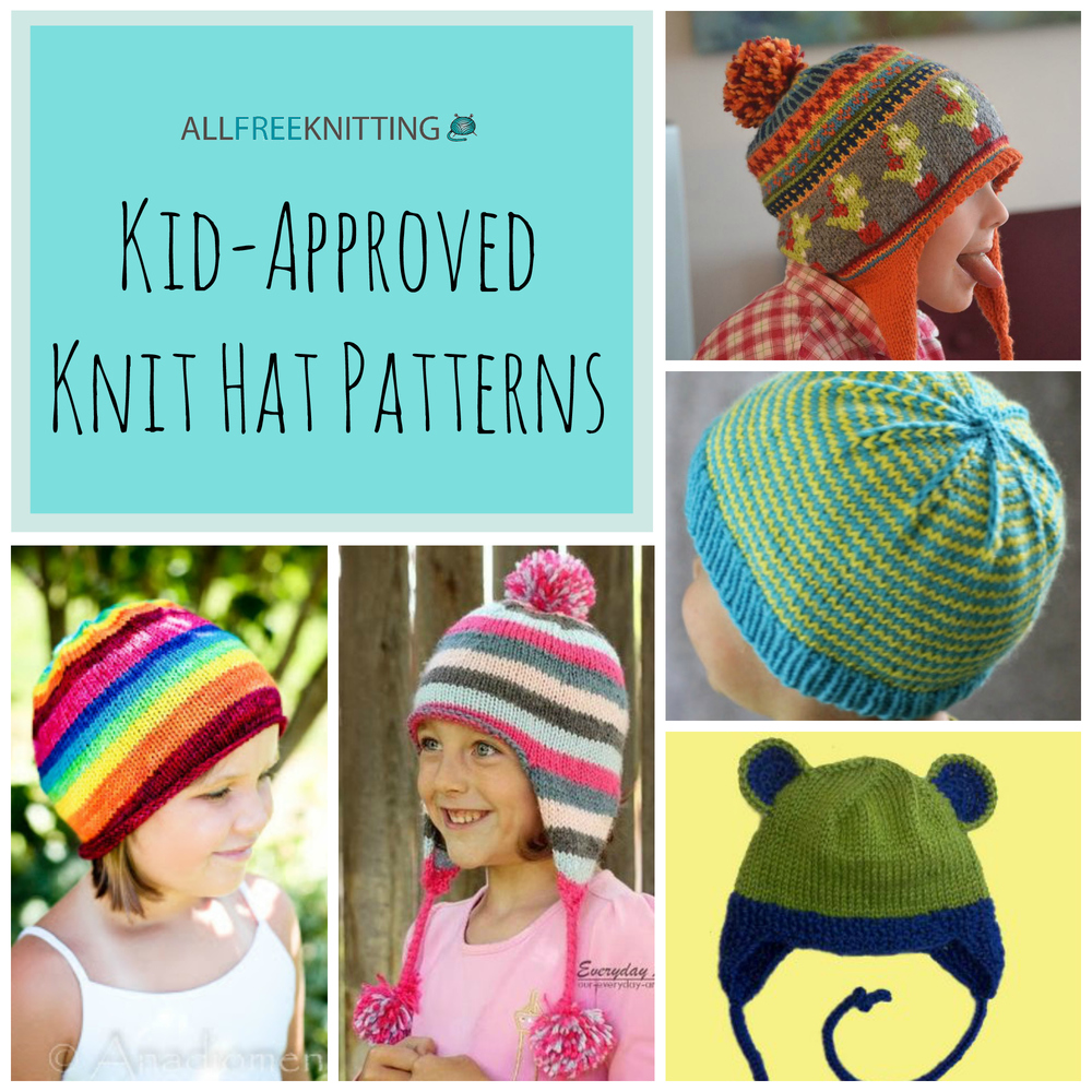 Knitting for kids 26 kid-approved knit hat patterns | allfreeknitting.com FEDQSFH