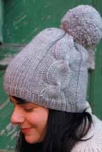 knitting patterns for hats ariosa pom-pom hat BQVXITN