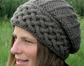 knitting patterns for hats knit hat pattern / seamless hat knitting pattern / knitting pattern hat /  slouch EUVQTYL