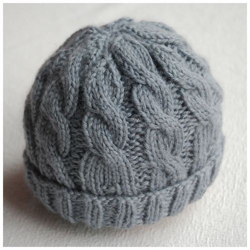 knitting patterns for hats newborn knitting hat patterns | ... hat in patons bamboo silk using the 10 LBMQGRM