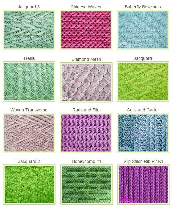 knitting stitches knitting yarn · slipped stitch patterns KBMUPCO