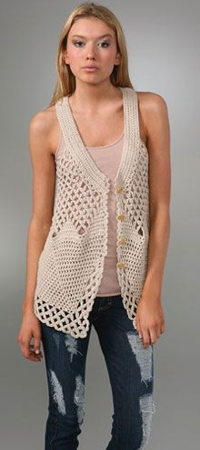 kylara crochet vest free pattern more YATDDLU