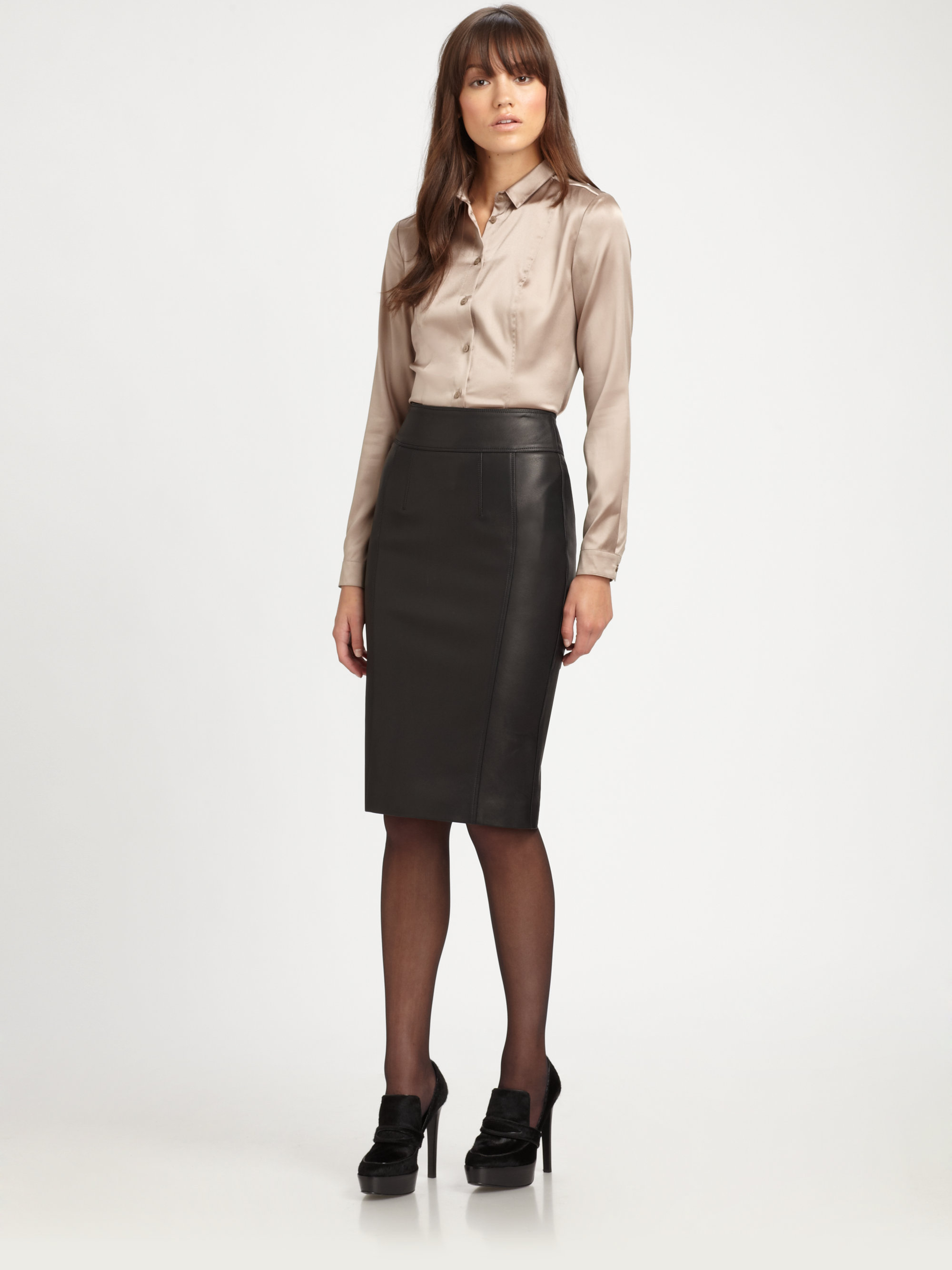 leather pencil skirt gallery RSTELKQ