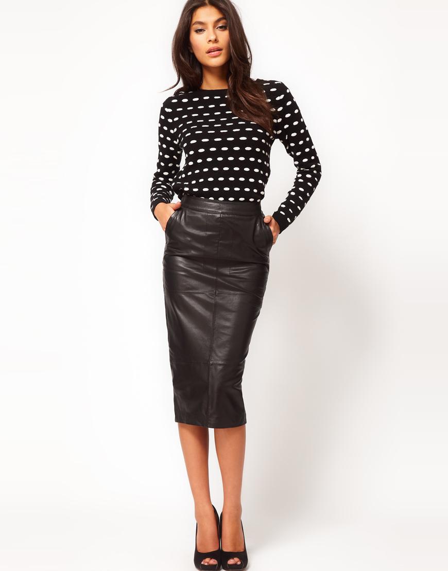 leather pencil skirt gallery. womenu0027s pencil skirts womenu0027s black leather ... LZRXTDJ