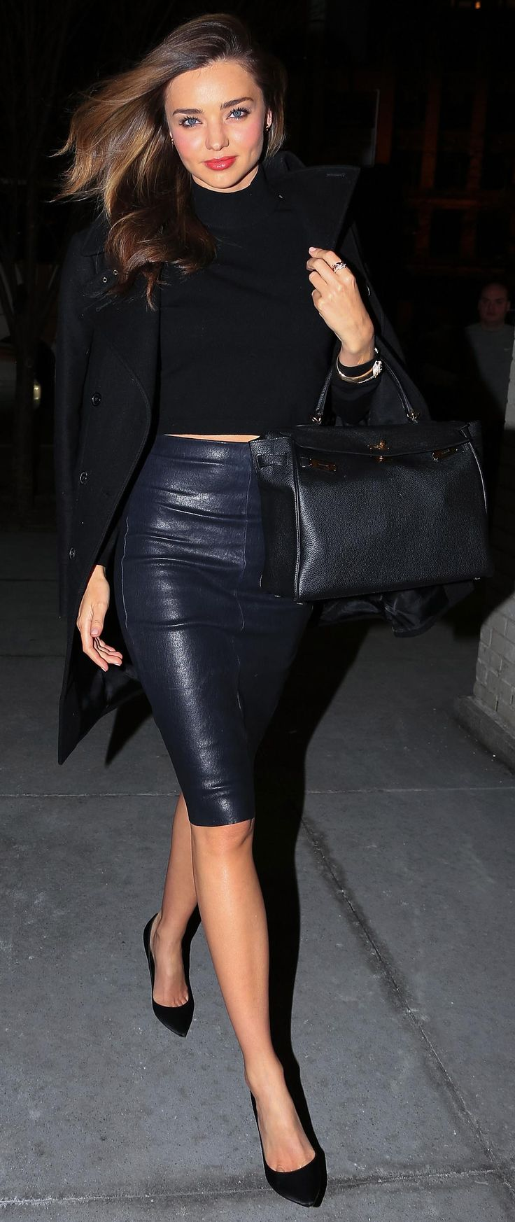 leather pencil skirt miranda kerr has an outfit for just about everything. leather pencil skirtsblack  ... RQYMGTZ