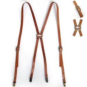 leather suspenders image is loading new-mens-leather-suspenders-x-back-retro-braces- TGLWLBA