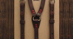 leather suspenders woodsman suspenders. leather ... DWOCTFZ