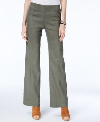 linen pants inc international concepts petite pull-on wide-leg pants, created for macyu0027s NZZFITA