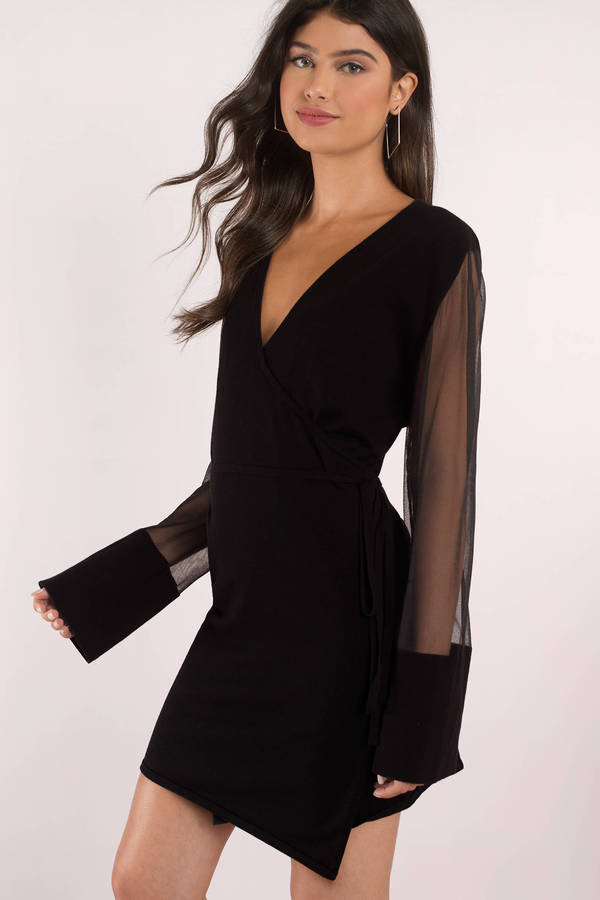 little black dress little black dresses, black, reality wrap knit dress ... CXKLKRQ