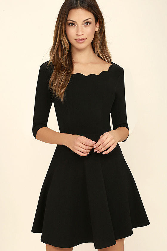 little black dress lulus exclusive tip the scallops black dress 1 OHEEOPP