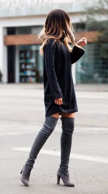 long boots 40 comfy casual winter streetwear looks for girls DLABKIF