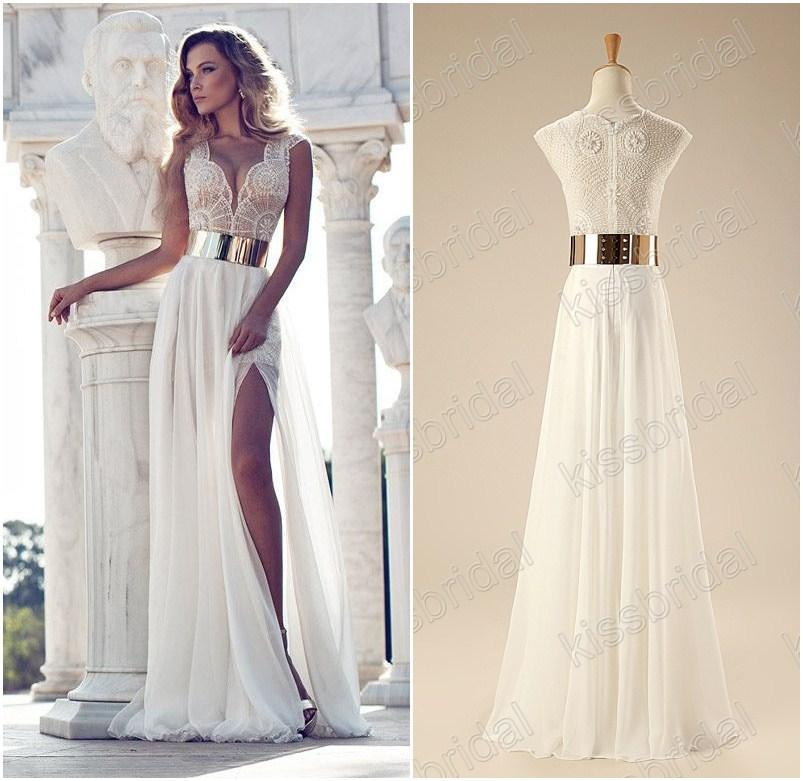 long evening dresses 2015 stuning in stock long evening gowns beaded v-neck cap sleeve golden  belt a-line PHTXGXL
