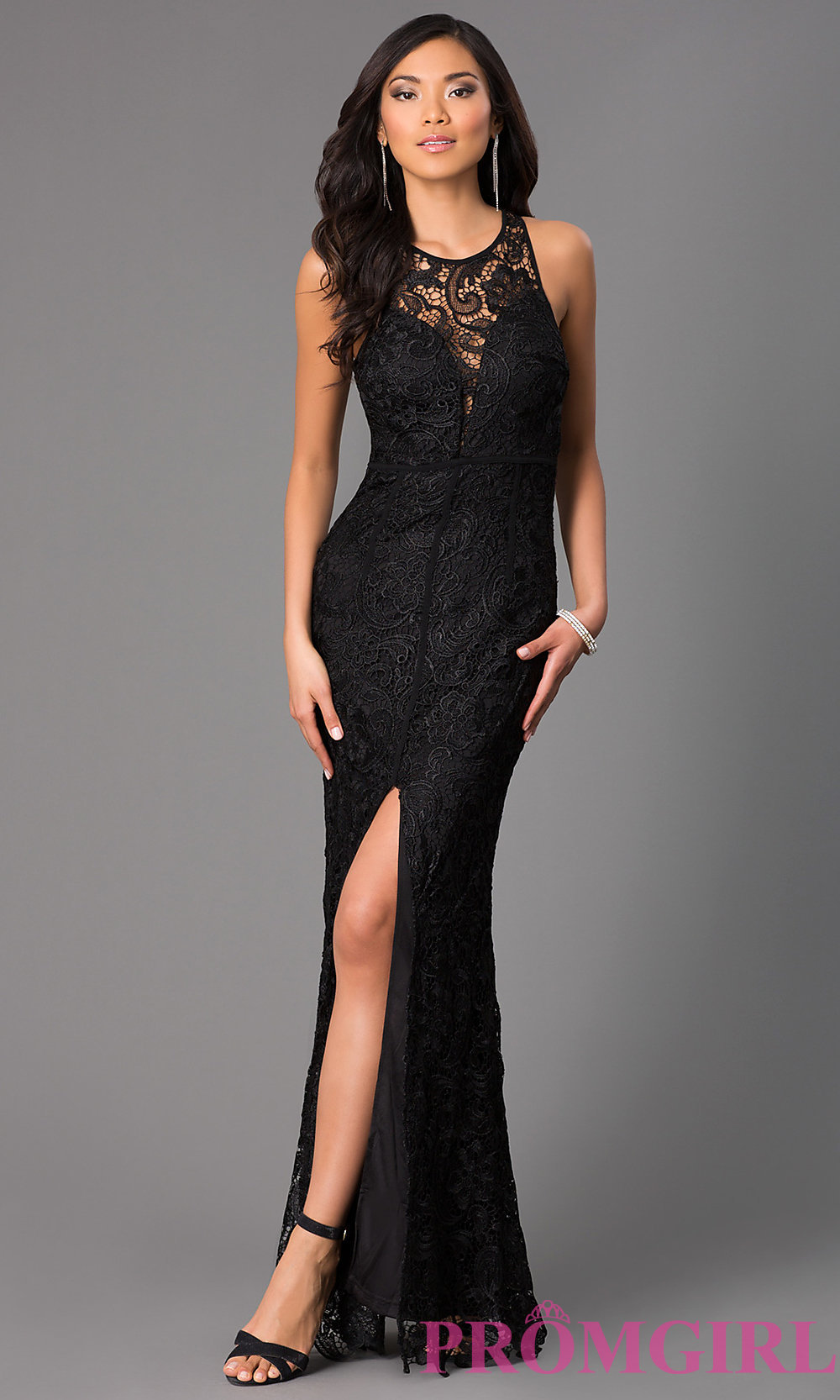 long lace dress hover to zoom · image of long lace sleeveless dress ... FBAUELB