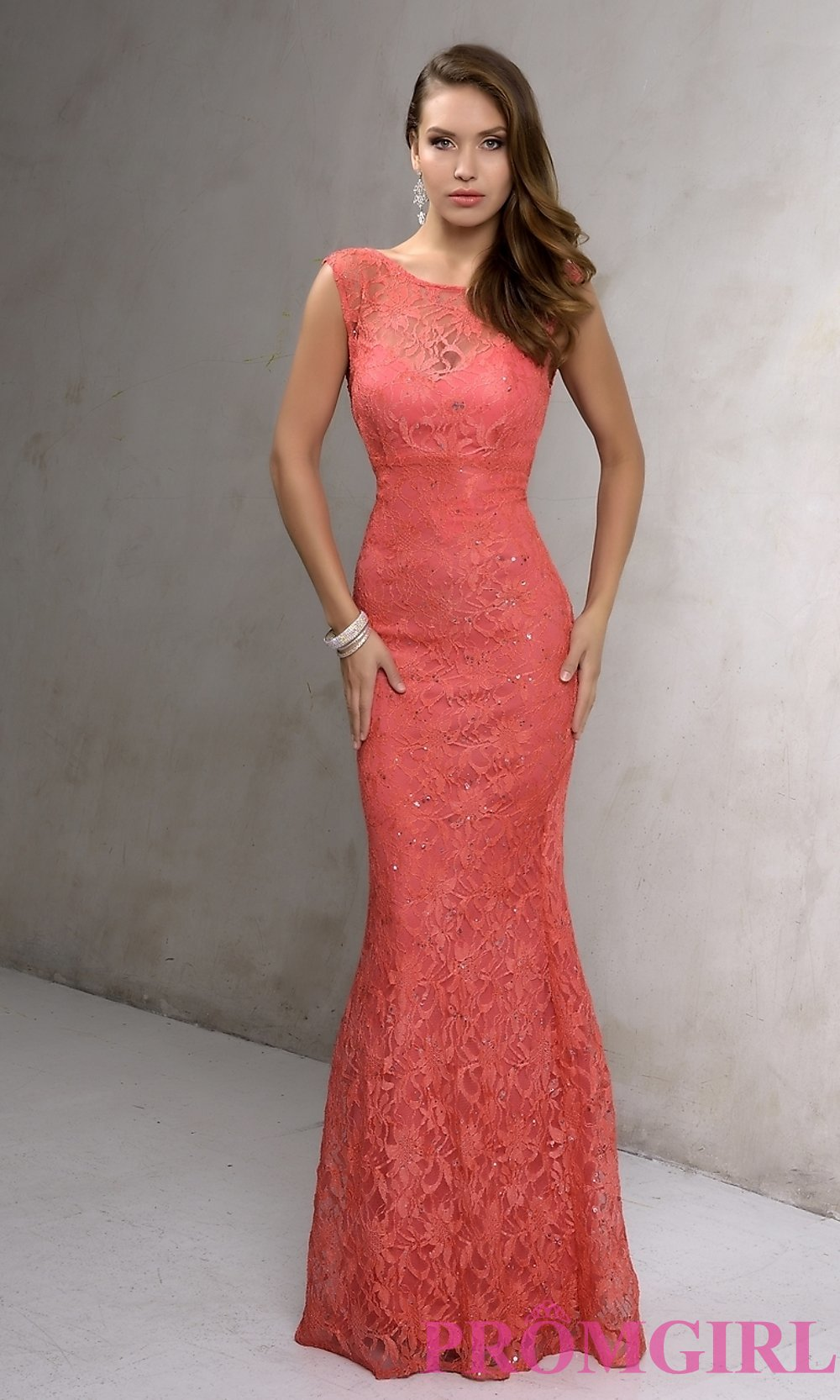 long lace dress hover to zoom LZGWLAO