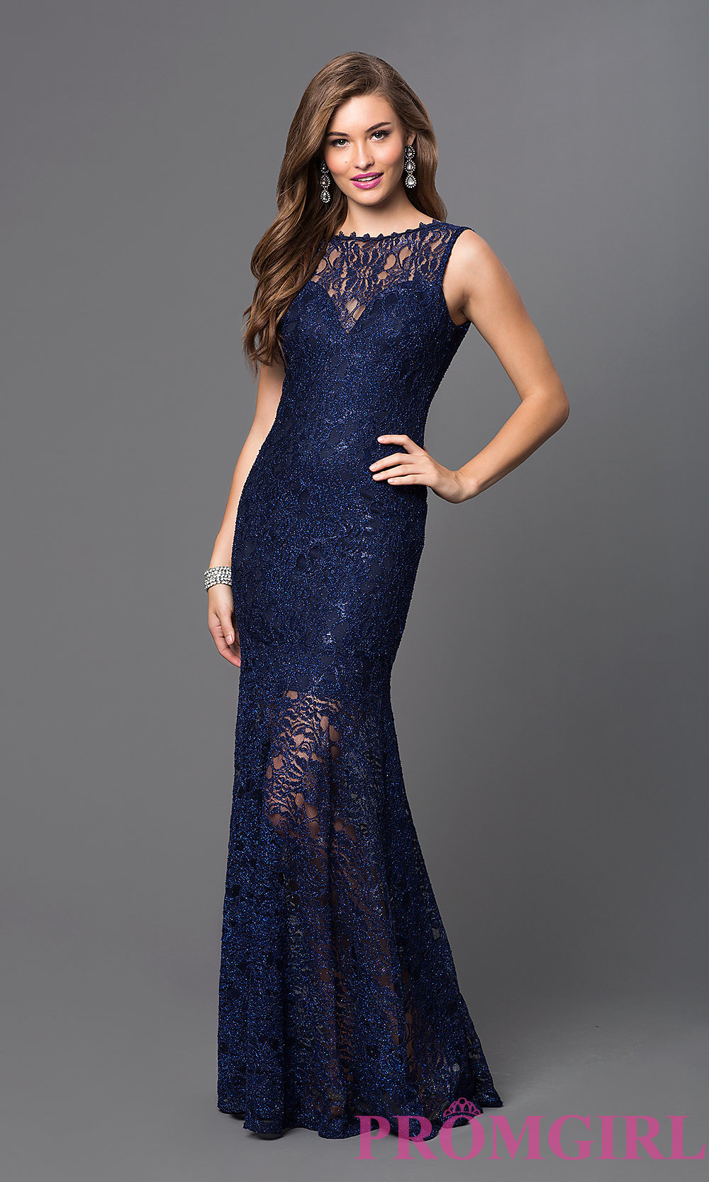 long lace dress hover to zoom RQQGCGV