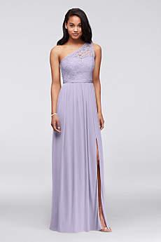 long lace dress soft u0026 flowy davidu0027s bridal long bridesmaid dress RYKTHBL