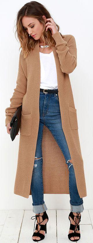 long sweaters portrait gallery tan long cardigan sweater VJLBIUW