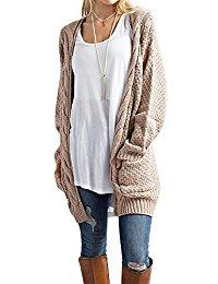 long sweaters womenu0027s boho long sleeve open front chunky warm cardigans pointelle  pullover sweater blouses PKSARHV