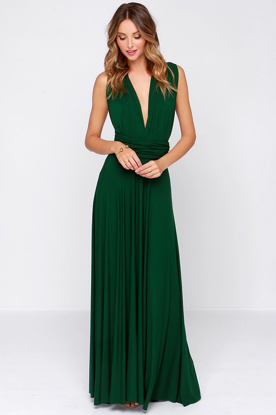 love love love this dress! tricks of the trade forest green maxi dress at SENIRNT