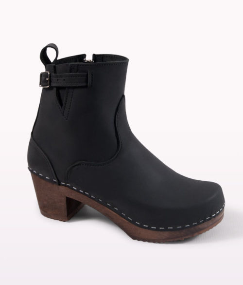 manhattan black clog boots for women 1 HKZTZPE