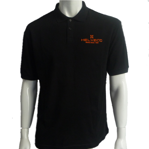 men black embroidered polo shirts pure cotton UPJCUBD