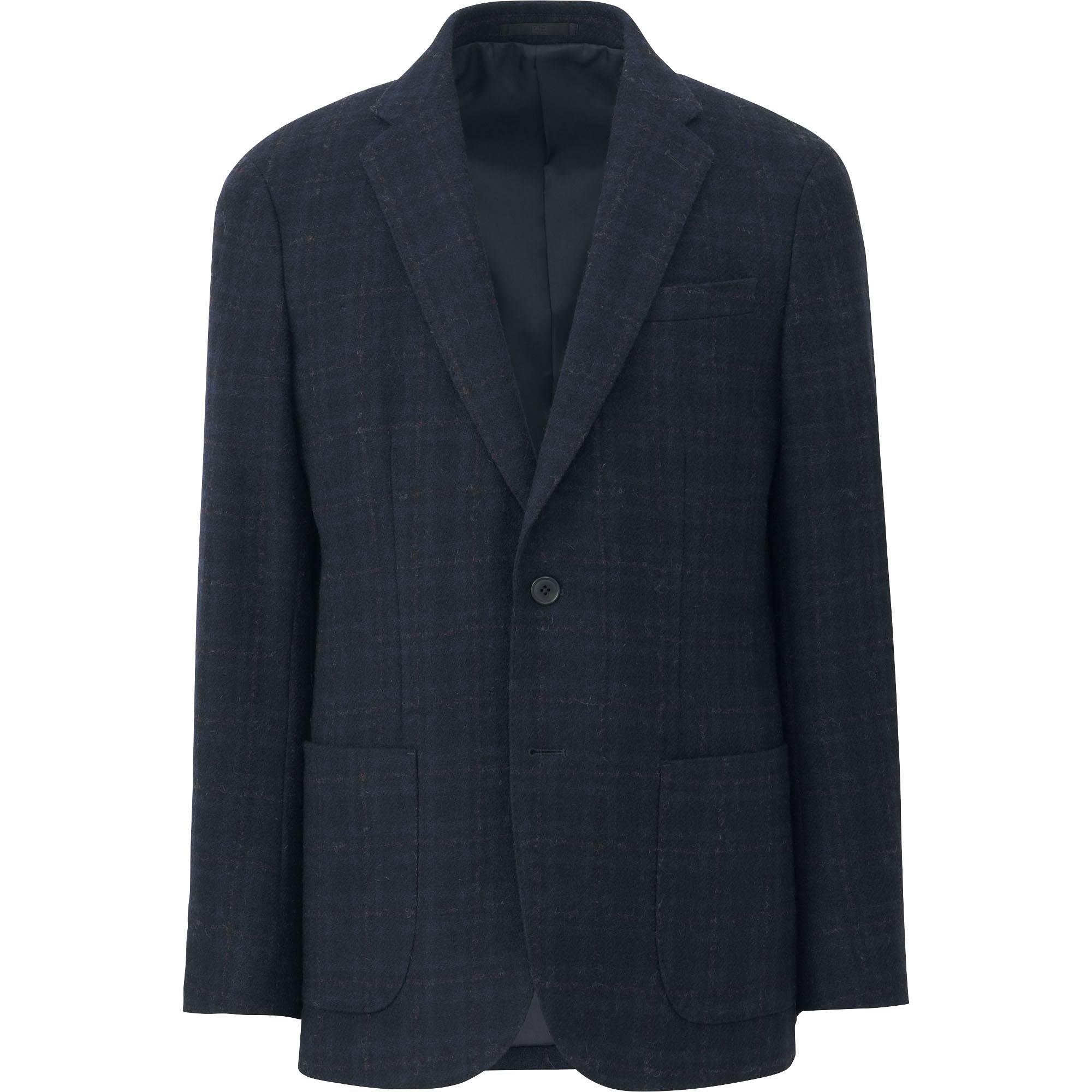 men tweed jacket, dark brown, small JLDZHII