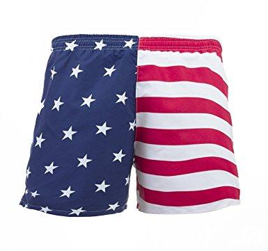 menu0027s american flag swim trunks red/blue s LZIHVPP