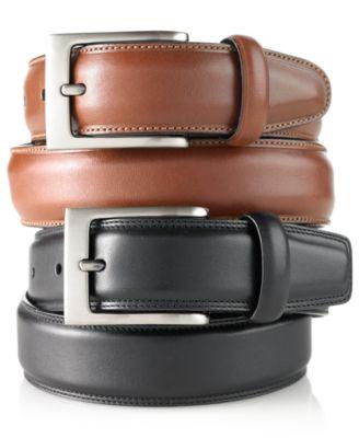 mens belts perry ellis menu0027s big and tall full grain leather belt QWXLKFM