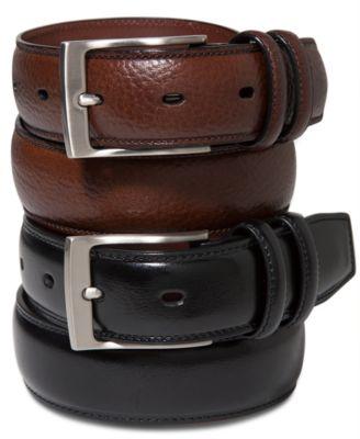 mens belts perry ellis menu0027s leather belt TMYBLRB