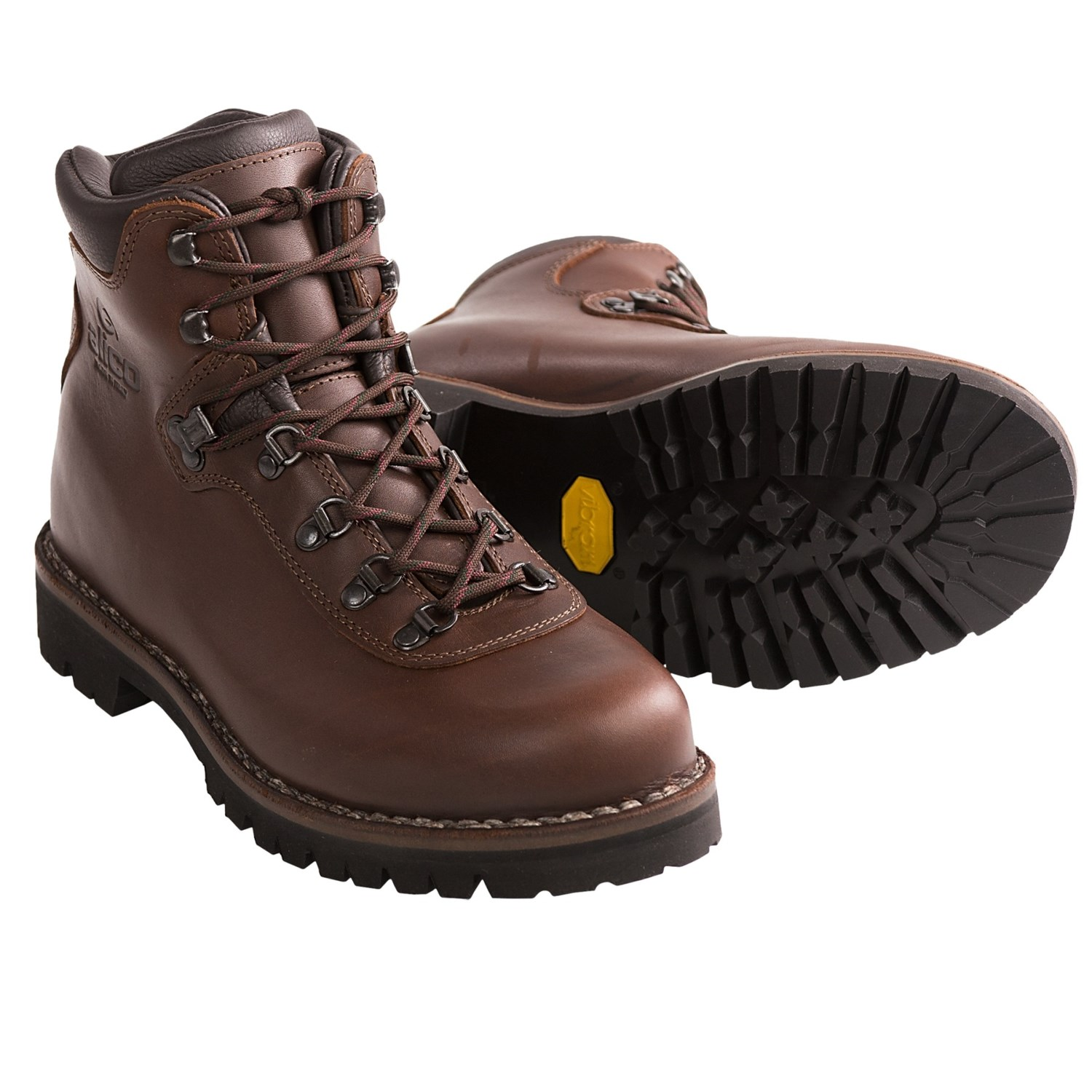 mens boots alico summit hiking boots - leather (for men) in brown SDGHCFL
