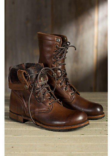 mens boots menu0027s walk-over ian fold-over leather jump boots EINKXDB