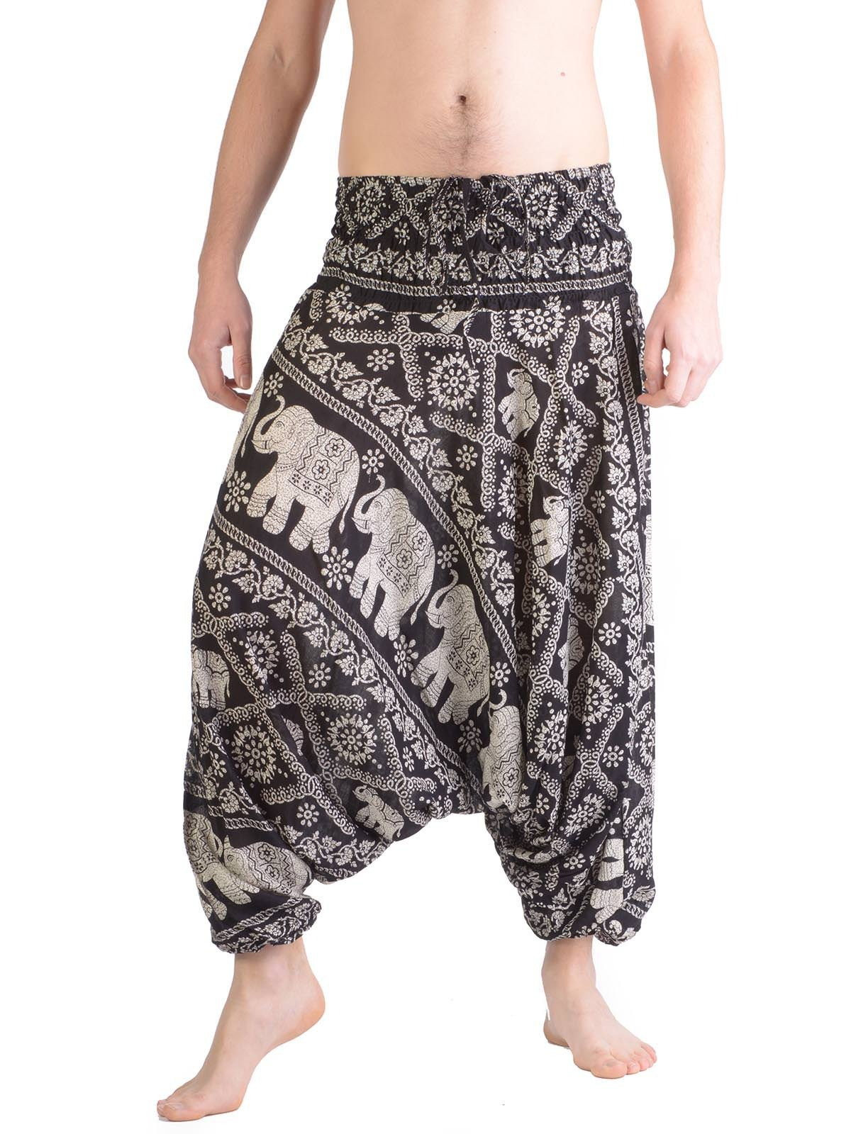 mens harem pants elephant harem pants for men - forgotten tribes FBMZYPJ