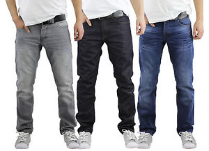 mens jeans image is loading mens-jeans-crosshatch-wayne-slim-leg-tapered-denim- OAGOZWJ