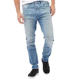 mens jeans jack and jones mens luke echo relaxed fit jeans blue denim TODPHXK