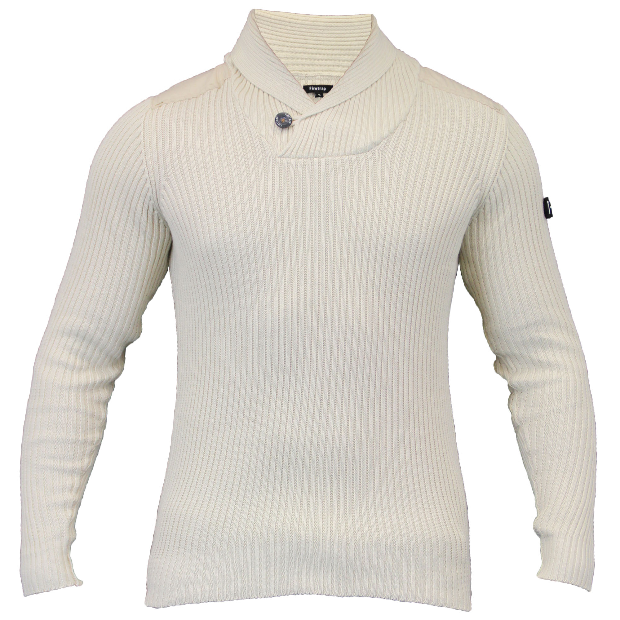 mens jumpers mens-jumpers-firetrap-knitted-top-sweater-pullover-ribbed- PFHAJQA