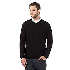 mens jumpers the collection - black v neck acrylic jumper YWTYETL